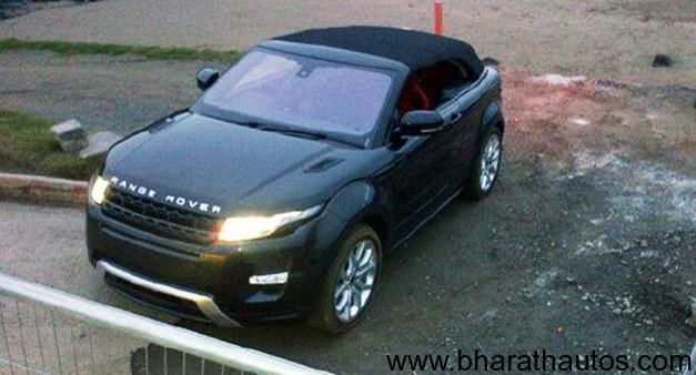 Range Rover Evoque Convertible Concept spied - FrontView