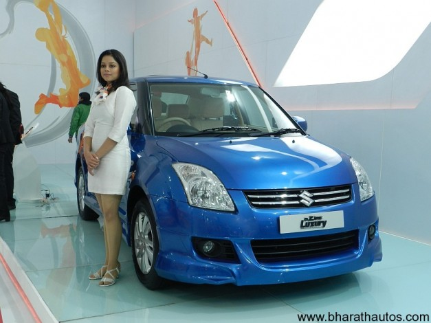 Maruti Suzuki Dzire Luxury at 2012 Auto Expo