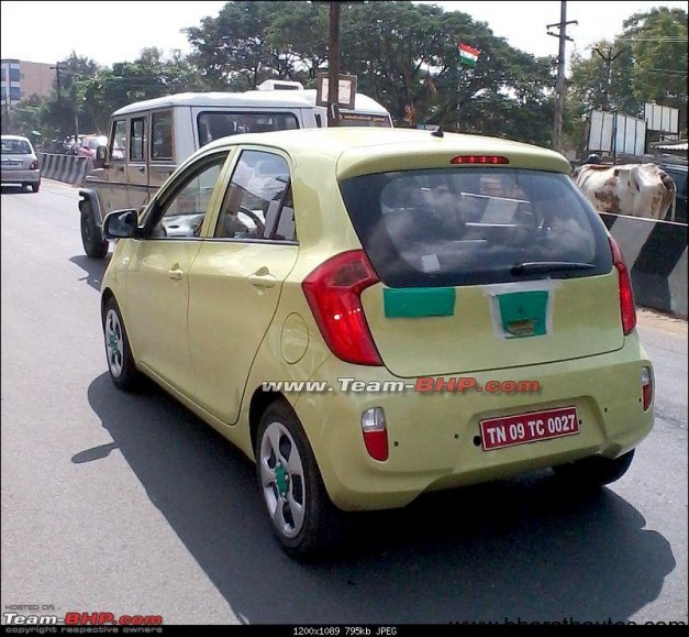 Kia Picanto spied in chennai, india