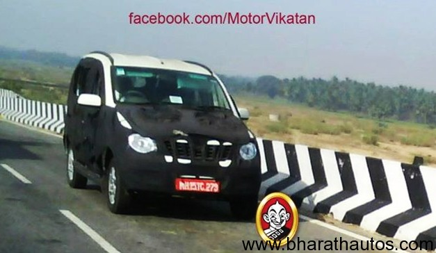 Mahindra Mini Xylo compact MPV spied