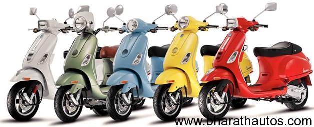 5 Shades available in Piaggio Vespa LX125