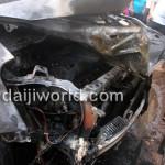 Maruti Ritz caught fire in Mangalore - 003