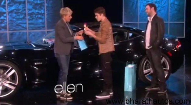 Justin Bieber gets Fisker Karma for his 18th birthday on Ellen
