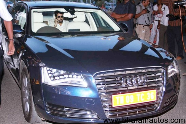 abhishek bachchan snapped in his new audi a8 limousine. Black Bedroom Furniture Sets. Home Design Ideas