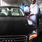 Abhishek Bachchan snapped in his New Audi A8 Limousine - 002
