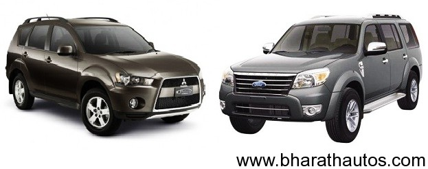 Ford Endeavour VS Mitsubishi Outlander 2012