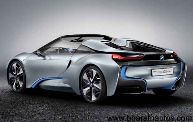 Bmw I8 Spyder Concept Rearview Bharathautos Automobile News