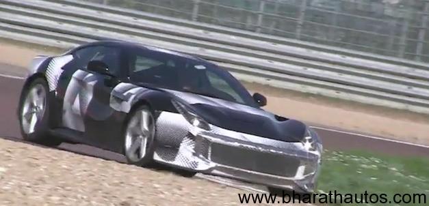Ferrari F12 Berlinetta flexing muscle on racetrack