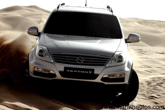 New Ssangyong Rexton W SUV - FrontView