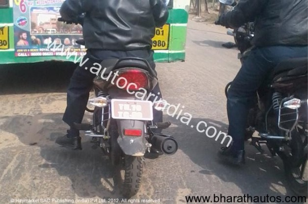 Spied TVS 125cc motorcycle in South India - 002