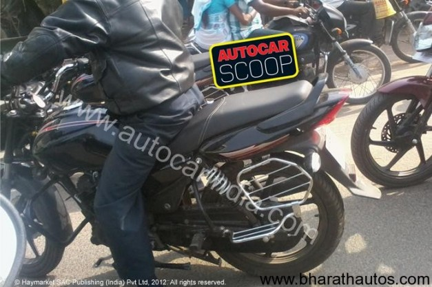 Spied TVS 125cc motorcycle in South India - 001