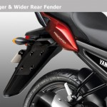 2012 Yamaha FZ series - Rear mudguard/fender