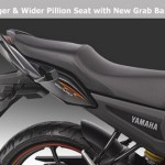 2012 Yamaha FZ series - Redesigned grab rails