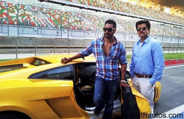 Anil Kapoor & Ajay Devgan raced Lamborghinis on F1 track