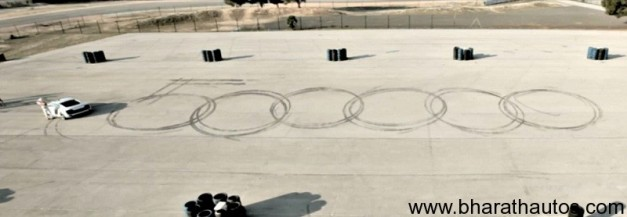 Audi R8 Drifting video celebrating 500,000 Facebook fans