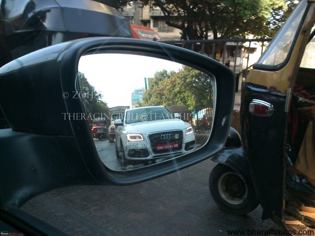 Facelifted Audi Q5 caught in lens at Mumbai - 001