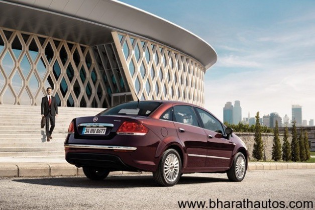 New 2013 Fiat Linea facelift - RearView