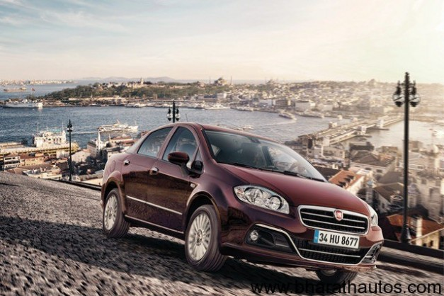 New 2013 Fiat Linea facelift - FrontView