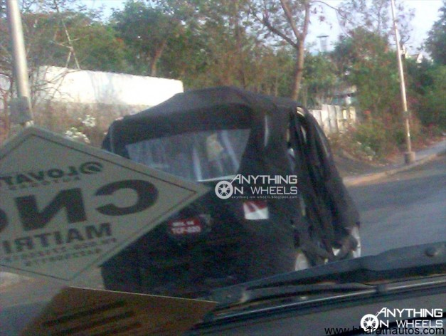 Spied Bajaj RE60 four-wheeler - 001