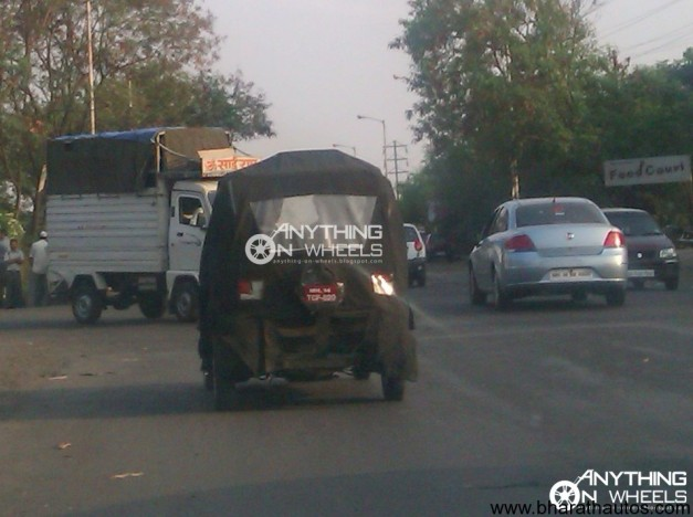 Spied Bajaj RE60 four-wheeler - 002