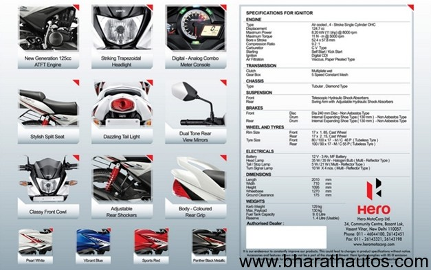 2012 Hero Ignitor 125 - Brochure 2