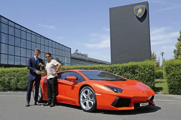 Lamborghini rolls out 1000th Aventador