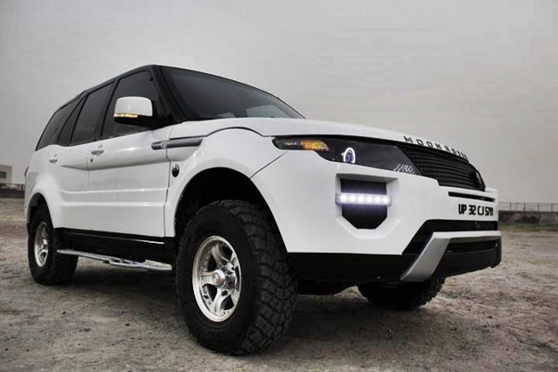 tata safari converted into range rover evoque