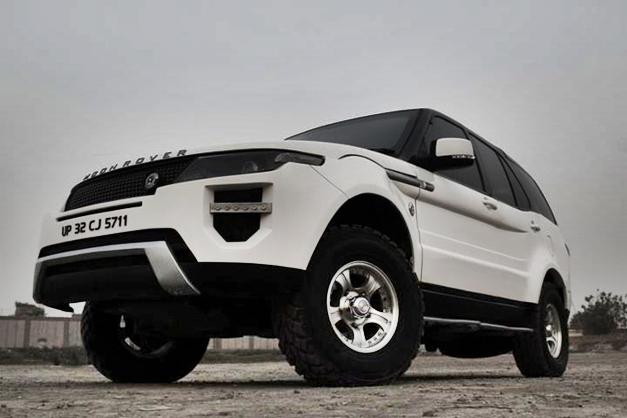 Tata Safari Converted Into Range Rover Evoque