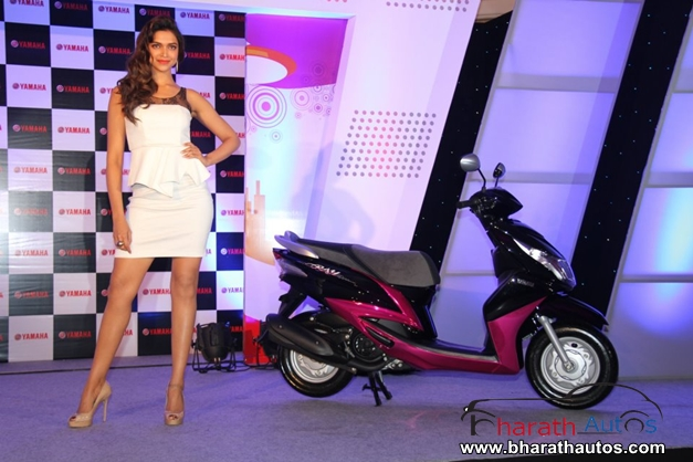 Deepika Padukone with Yamaha Motors