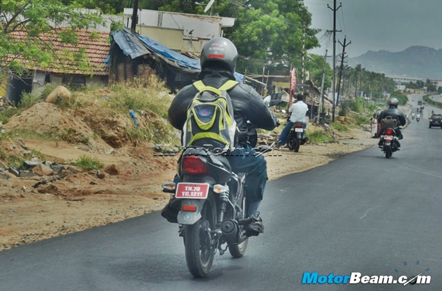 TVS Radeon 125cc motorcycle - RearView