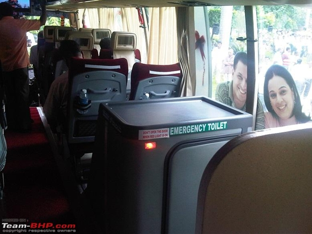 Volvo-KSRTC introduces multi-facility bus with pantry and toilet