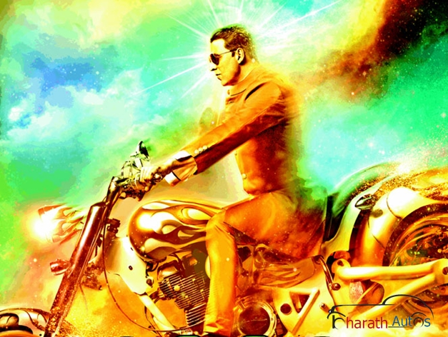 Akshay Kumar rides Vardenchi Chopper in Oh My God (2012 movie)