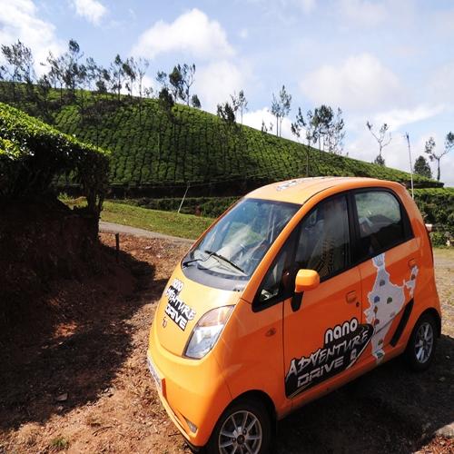 Thomas Chacko's Nano Drive - In Munnar