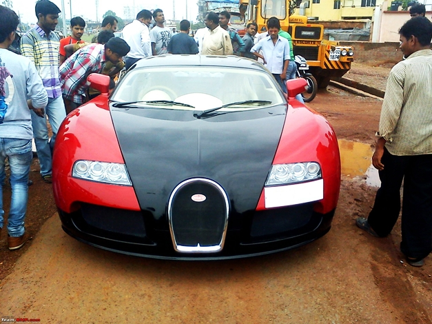 Honda City converted into Bugatti Veyron