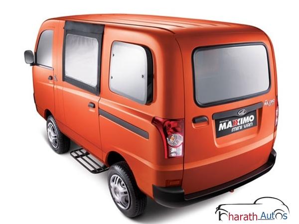 Mahindra Maxximo Hard Top Van - RearView