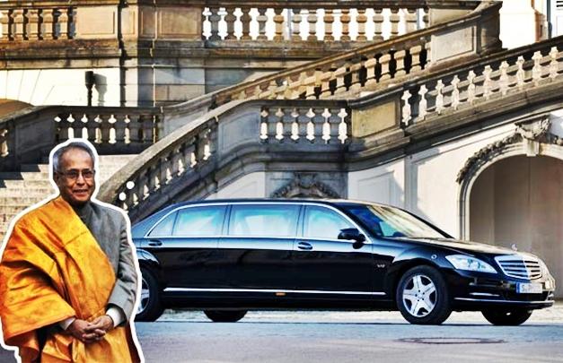 Pranab Mukherjee's Mercedes-Benz S600L Pullman