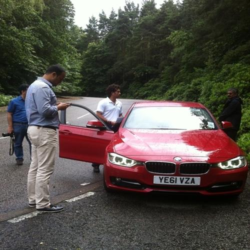 Sachin Tendulkar in BMW
