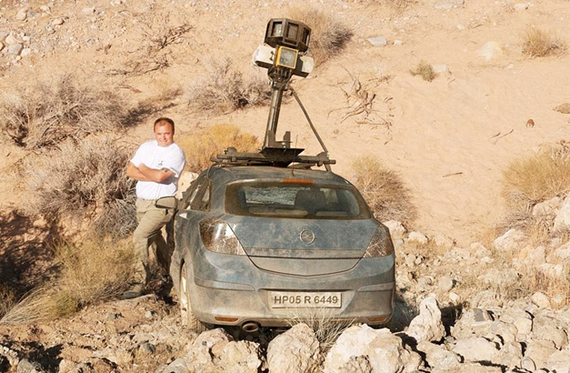 Google Street View Car found crashed in India