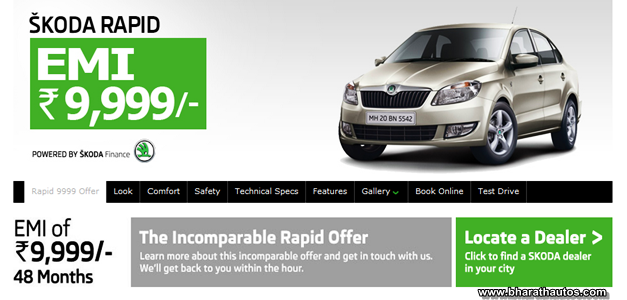 Skoda Rapid available at Rs 9999/- per month EMI Scheme - 001