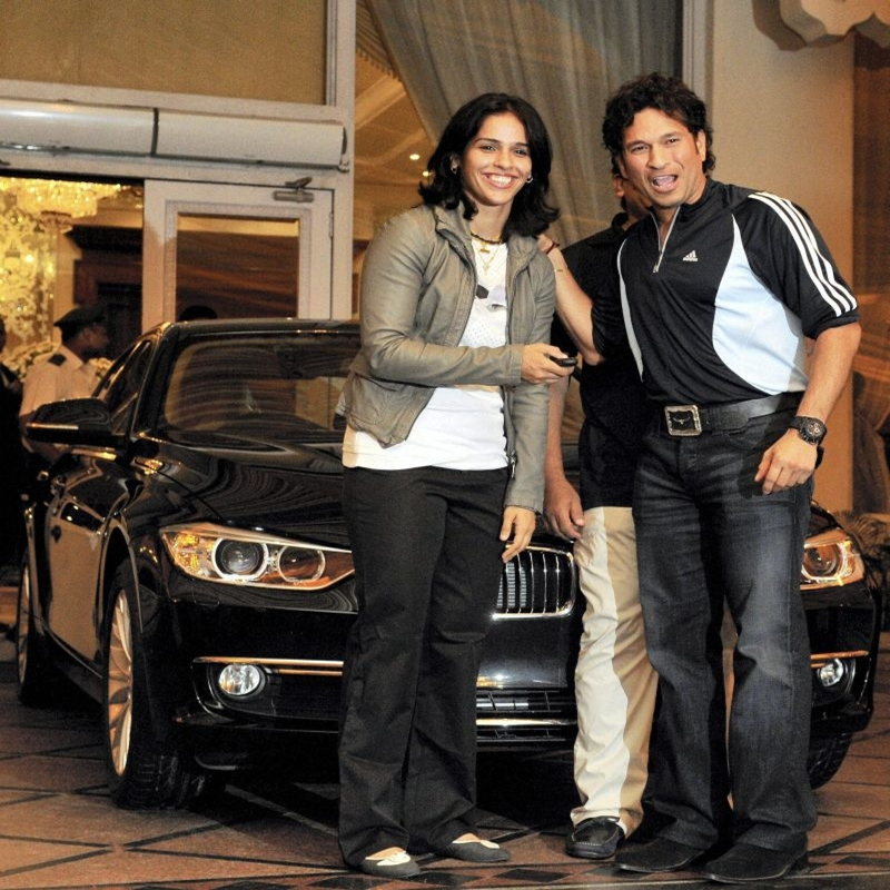 Saina Nehwal receives new BMW 3-series from Sachin Tendulkar