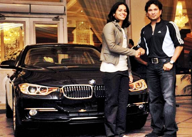 Saina Nehwal receives new BMW 3-series from Sachin Tendulkar