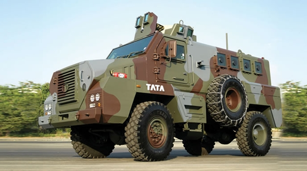 Tata Mine Protected Vehicle - LeftsideView