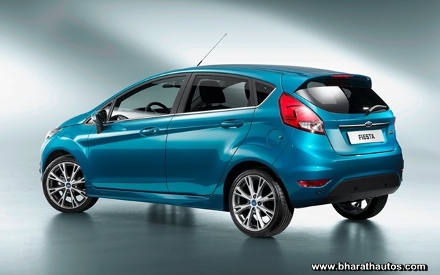 2013 Ford Fiesta hatchback - RearView