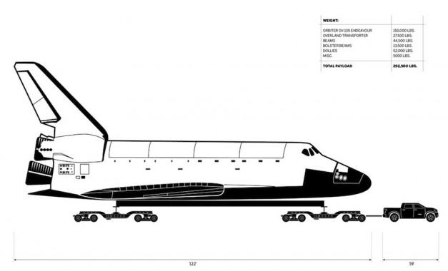 Toyota Tundra is set to tow the space shuttle Endeavour - 001
