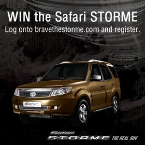 Want to WIN the TATA Safari Storme? Join the #BraveTheStorme Contest!