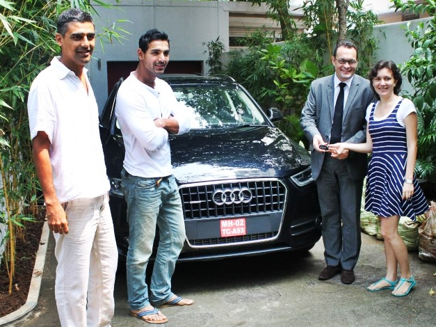 John Abraham gifts Audi Q3 to his sister-in-law for her birthday - 001