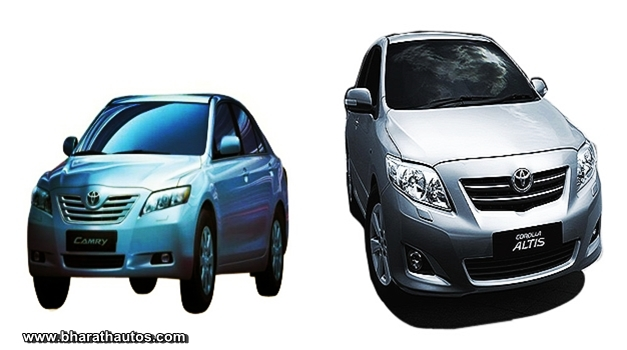 Toyota Corolla Altis and Camry models recalled
