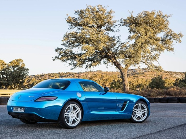 Mercedes-Benz SLS AMG Coupe Electric Drive - RearView