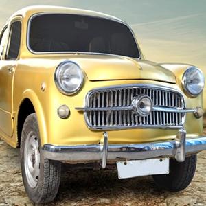 Shehzad Khan turns Fiat's Vintage Car into a golden beauty