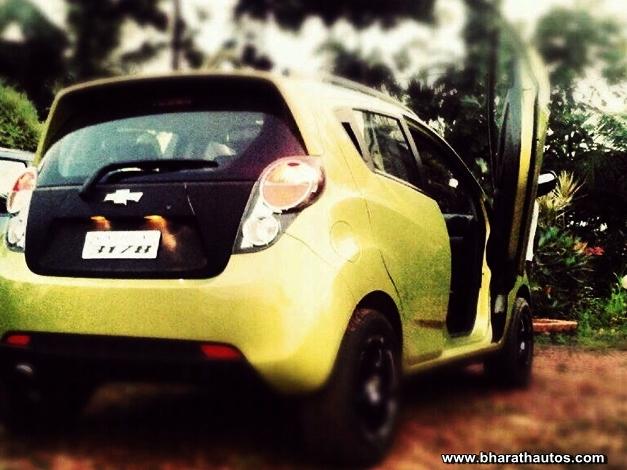 Chevrolet Beat with Lambo doors - RearView